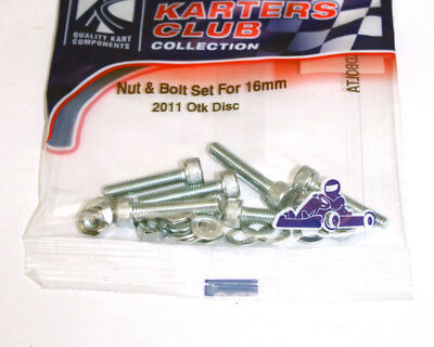 TonyKart / OTK 2011 Brake Disc Nut & Bolt Set UK KART STORE