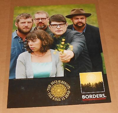 The Decemberists The King is Dead Poster Original 24x18 RARE