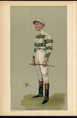 Horse Racing Jockey John Watts Vanity Fair Caricature Manchester Goodwood Cups