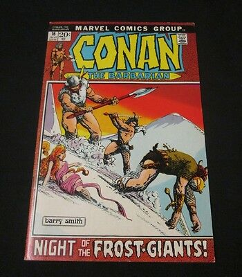 CONAN THE BARBARIAN #16 ~1972 Marvel Comics - Barry Smith art! Frost-Giants!