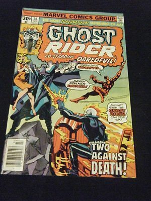GHOST RIDER #20 ~ 1976 Marvel Comics - John Byrne art! Daredevil!