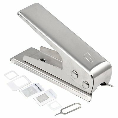 Nano Sim Card Cutter & 2 Adaptors for iPhone 4 4S 5 iPad 3 and Above
