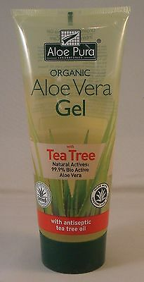 Aloe Pura Organic Aloe Vera Gel + Tea Tree 200ml