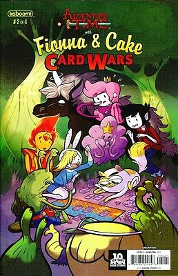 Adventure Time With Fiona & Cake Card Wars #2 Subscription Variant Kaboom!