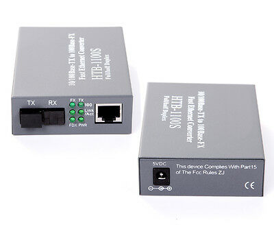 High quality 10/100Mbps Ethernet to Fiber Optic Media Converter 25KM SC 1Pair