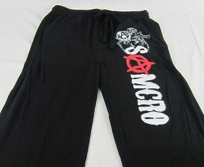 Mens Womens NEW Sons of Anarchy SAMCRO Black Pajama Lounge Pants Size M