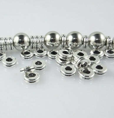 Hot 100pcs Round Tibetan Silver Charm Spacer Beads Jewelry Findings DIY 6X2mm