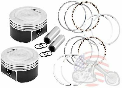 Sportster 883 to 1200 Conversion Piston and Hastings Moly Ring Kit Standard Bore
