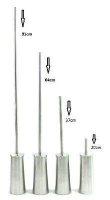 Adjustable 4 heights Long Handle Toilet Brush Holder Stainless Steel Top Quality