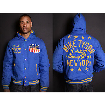 Roots of Fight Mike Tyson Kid Dynamite Canvas Jacket - Blue