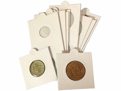 Lighthouse Self Adhesive Coin Holders 2x2 Flips 17.5 mm - 39 mm 10 25 50 100