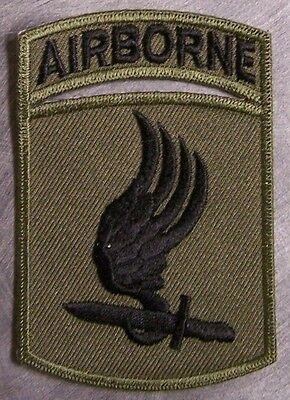 Embroidered Military Patch U S Army 173rd Airborne NEW muted