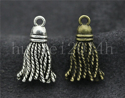 10//40//200pcs Tibetan Silver Exquisite Teeth Jewelry Charms Pendant DIY 16x8mm