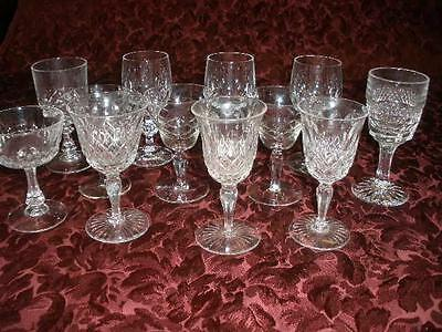 Stunning Assorted Patterned Crystal Sherry Glasses X 12