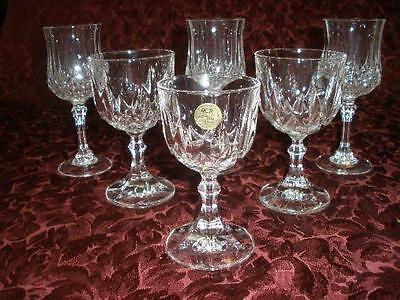 Stunning Assorted Patterned Crystal Wine Glassesx 6 Rcr Italy France