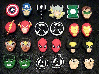 Set of 2 New Avengers Movie Shoe Charms Suitable for Crocs Jibbitz Age of Ultron