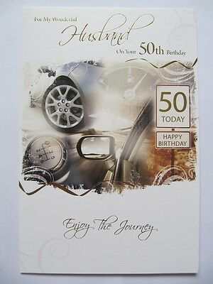 50 Today Driving Related Wonderful Husband On Your 50Th Birthday Greeting Card
