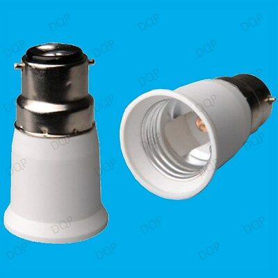 Bayonet BC B22 To ES E27 Screw Light Bulb Adaptor Lamp Fitting Converter Holder