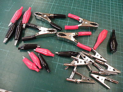 24 Pc Assorted Crocodile Croc Clip Set Sizes 28-70mm aka Alligator 1636  804