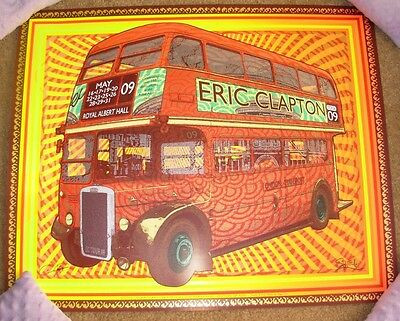 ERIC CLAPTON concert gig tour poster LONDON 2009 Royal Albert Hall Chuck Sperry