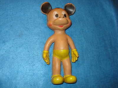 Vintage Standing Mickey Mouse Sun Rubber Squeaky Toy, 1954