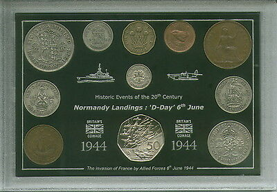 D-Day The Normandy Landings World War II Veteran Remembrance Coin Gift Set 1944