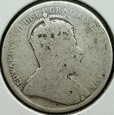 1903 Canada Quarter .925 Silver Coin King Edward VII 846,150 Minted KM#11 S