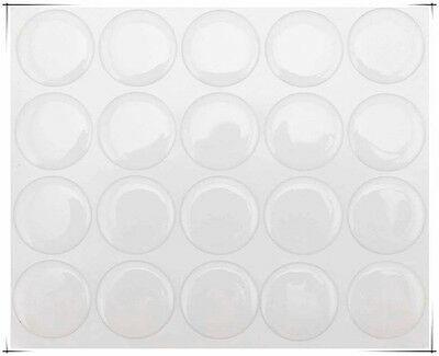 """500 pcs 1"""" Round 3D Bottle Cap Stickers Epoxy Adhesive Clear Circles Crystal"""