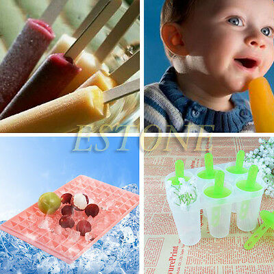 4/6 cell Pop Mold Popsicle Maker Lolly Mould Kitchen Frozen Ice Cream New