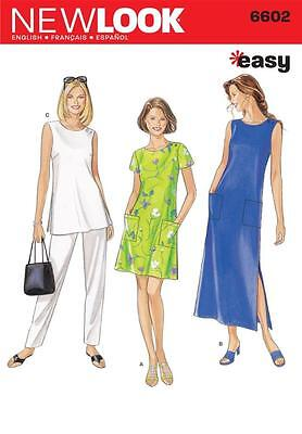 New Look Sewing Pattern Misses' Dress Top & Trousers Pants Size S - Xxl 6602