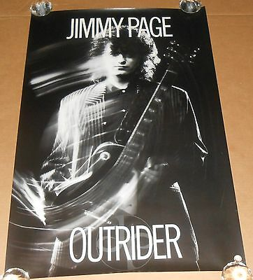 Jimmy Page Outrider Promo 1988 Original Poster 24 x 36 Led Zeppelin
