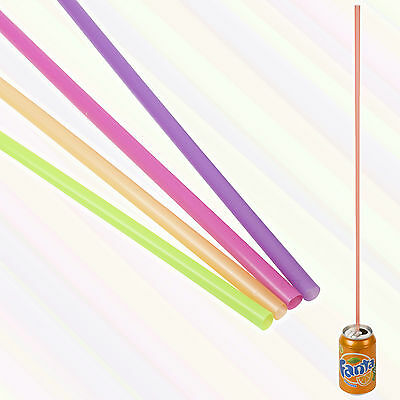 50, 100, 150 or 200 Extra Long Straws Jumbo Mega Multi Coloured Drinking Party