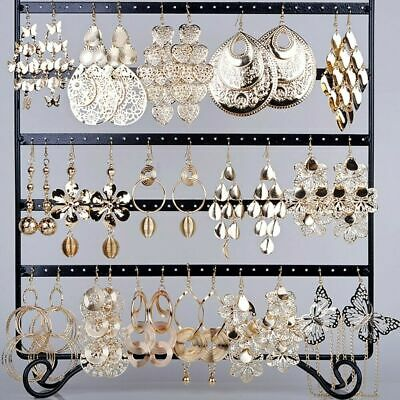 12 pairs Wholesale Jewelry lots Mixed Style Gold Plated Dangling Earrings Hot!
