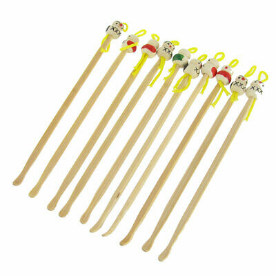 "Japanese Doll Bamboo Earpick Ear Wax Remover Cleaning Tool Yellow 4.7"" 10 Pcs"