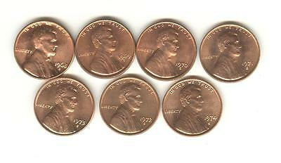 1968-S 1969-S 1970-S 1971-S 1972-S 1973-S 1974-S BU LINCOLN CENT SET plus bonus