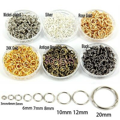 Wholesale 4mm,5mm,6mm,7mm,8mm,10mm,12mm Jump Rings Open Connectors Split Rings
