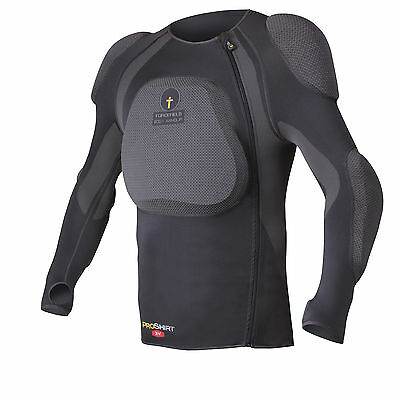 Forcefield PRO SHIRT X-V with L2 Back Insert Motorbike Body Armour Dark Grey