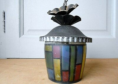 FRENCH OLD Modernist  tole CEILING LIGHT FIXTURE
