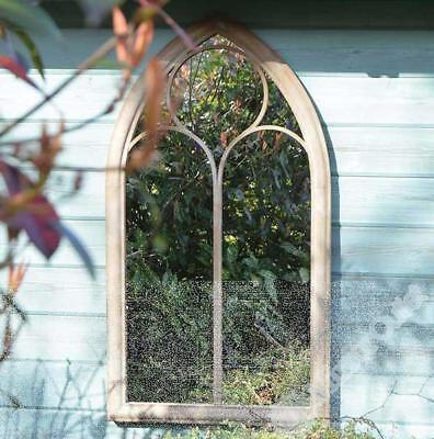 Rustic Garden Outdoor Wall Mirror Chapel Window Design 3ft8 x 2ft 112cm x 61cm