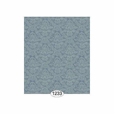 Dolls house 12th scale Wallpaper:  - Damask - Blue