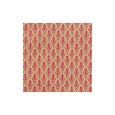 Dolls house 12th scale Wallpaper: Victorian,  Red on Gold background.