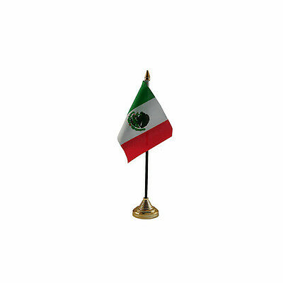 Mexico Table Desk Flag - 10 x 15 cm National Country Hand Central America