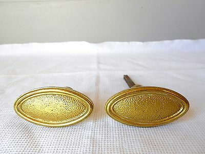 Pair of old FRENCH gilded bronze STYLISH Door handles