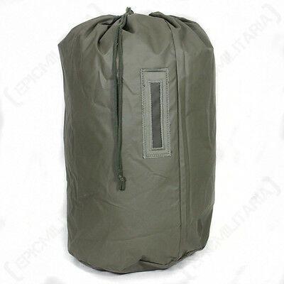 Original Swiss Waterproof DUFFEL BAG - Olive Green Drawstring Army Surplus Sack