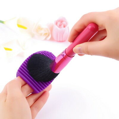 Egg Cleaning Glove MakeUp Washing Brush Scrubber Board Cosmetic Brush SCW