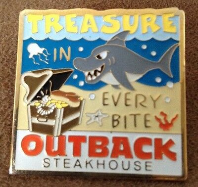 Treasure In Every Bite Outback Steakhouse hat lapel pin