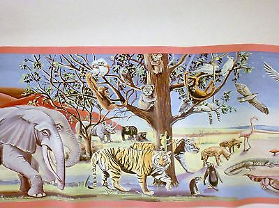 5 Rolls NOAH'S ARK Animals 5 yd WALLPAPER BORDER by IMPERIAL Total 25 yds NEW
