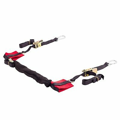 "Warrior 1"" Ratchet Straps With 1"" Hooks Tie Downs For ATV / Quad / MX / Off Road"
