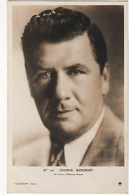 Vintage Postcard.actor George Bancroft Movie Film Star Silent. Rp