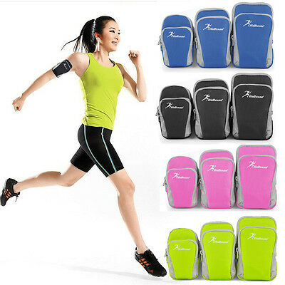 Cycling Running Jogging Gym Wrist Arm Bag Pouch Armband Cell Phone Keys Wallet
